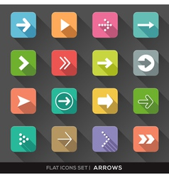 Arrow sign flat icons set vector