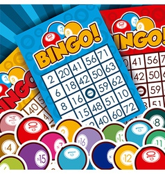 Bingo design vector image