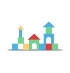 Blocks castle vector
