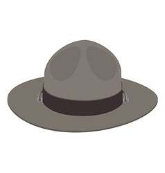 Camp scout hat vector image