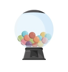 Candy sphere of fair food design vector