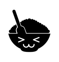 Cereal dish kawaii character vector