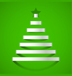 christmas tree greeting card design element vector image vector image
