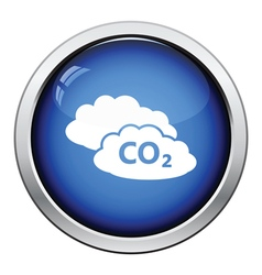 CO2 cloud icon vector image