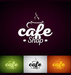 coffe cup logo design template set of cofe shop vector image vector image