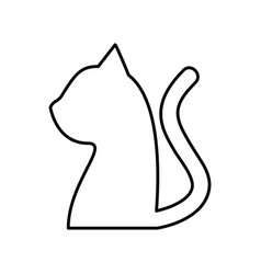 cute cat mascot silhouette isolated icon vector image vector image