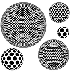 Dotted sphere vector