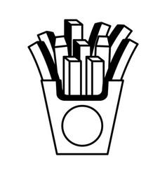 french fries potato icon vector image