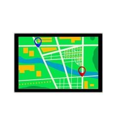 GPS navigator icon vector image vector image