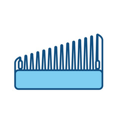 hairdressing brush accesory vector image vector image