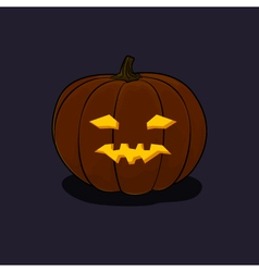Halloween vicious pumpkin on dark background vector