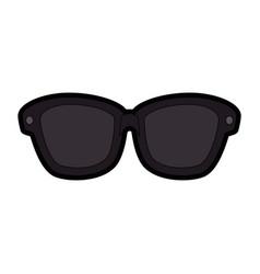 isolated sunglasses cartoon vector image
