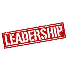 Leadership square grunge stamp vector