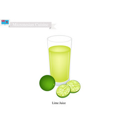 lime juice a popular dink of micronesia vector image vector image