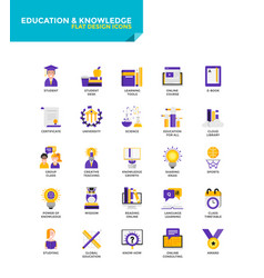 Modern material flat design icons - education and vector
