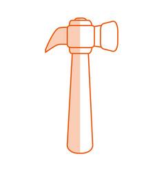 Monocromatic hammer design vector