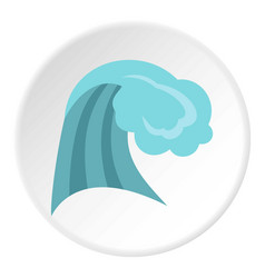 Ocean wave icon circle vector