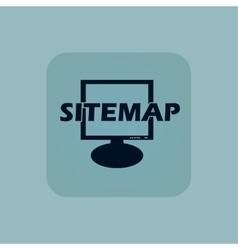 Pale blue sitemap icon vector