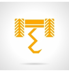 Plow yellow glyph style icon vector