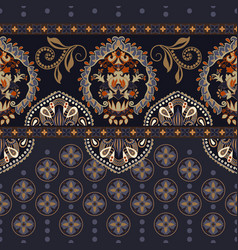 Seamless border with decorative ethnic vector