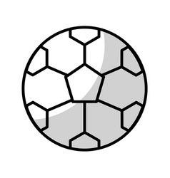 Shadow soccer ball cartoon vector