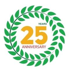 Template Logo 25 Anniversary in Laurel Wreath vector image vector image