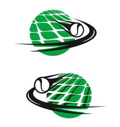 Tennis sports elements vector