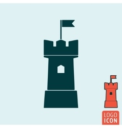Tower icon isolated vector image vector image