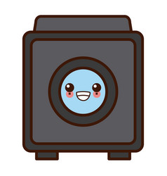 washer machine symbol kawaii cute cartoon vector image