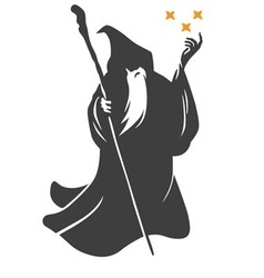 Wizard cartoon character design vector