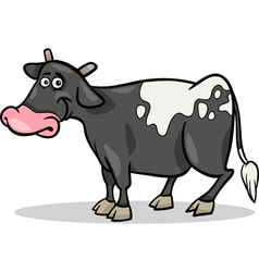 Cow farm animal cartoon vector