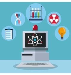 computer laboratory test molecule atom idea vector image