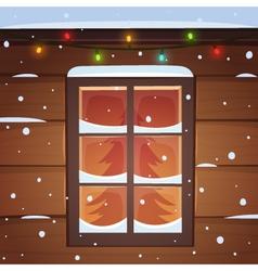 Snow window vector