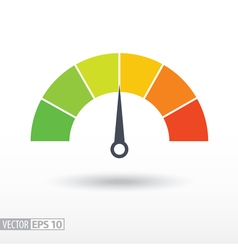 Speedometer flat icon sign colorful speedometer vector