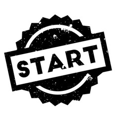 Start rubber stamp vector