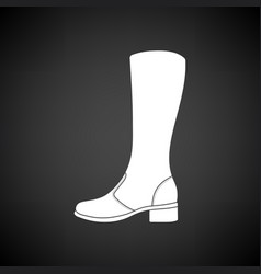 Autumn woman boot icon vector