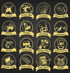 15 premium logo cartoon hobbies vector