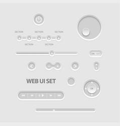 dark web ui elements vector image
