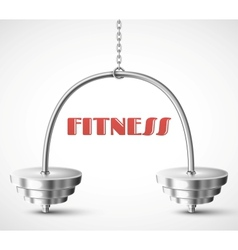 Fitness background vector
