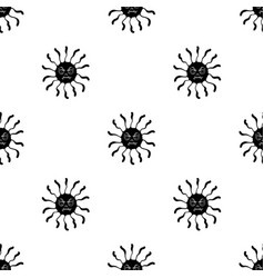 Purple virus icon in black style isolated on white vector