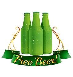 Free beer label vector image