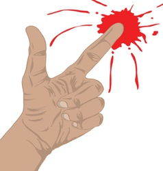 Finger gun with blood vector
