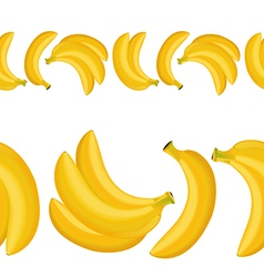 Seamless border of banana vector