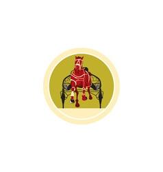 Horse and jockey harness racing retro vector