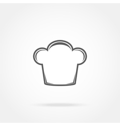Cap chef icon vector