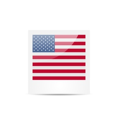 Photo frame in us national colors for independence vector