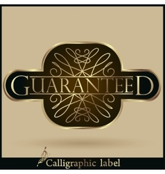Set of labels guaranteed premium quality vector