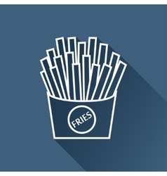 Fries icon eps10 vector