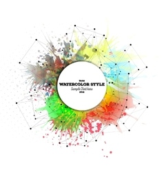 Abstract circle white banner with place for text vector