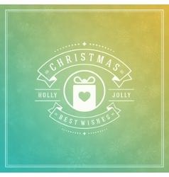 Christmas greeting card light and snowflakes vector image